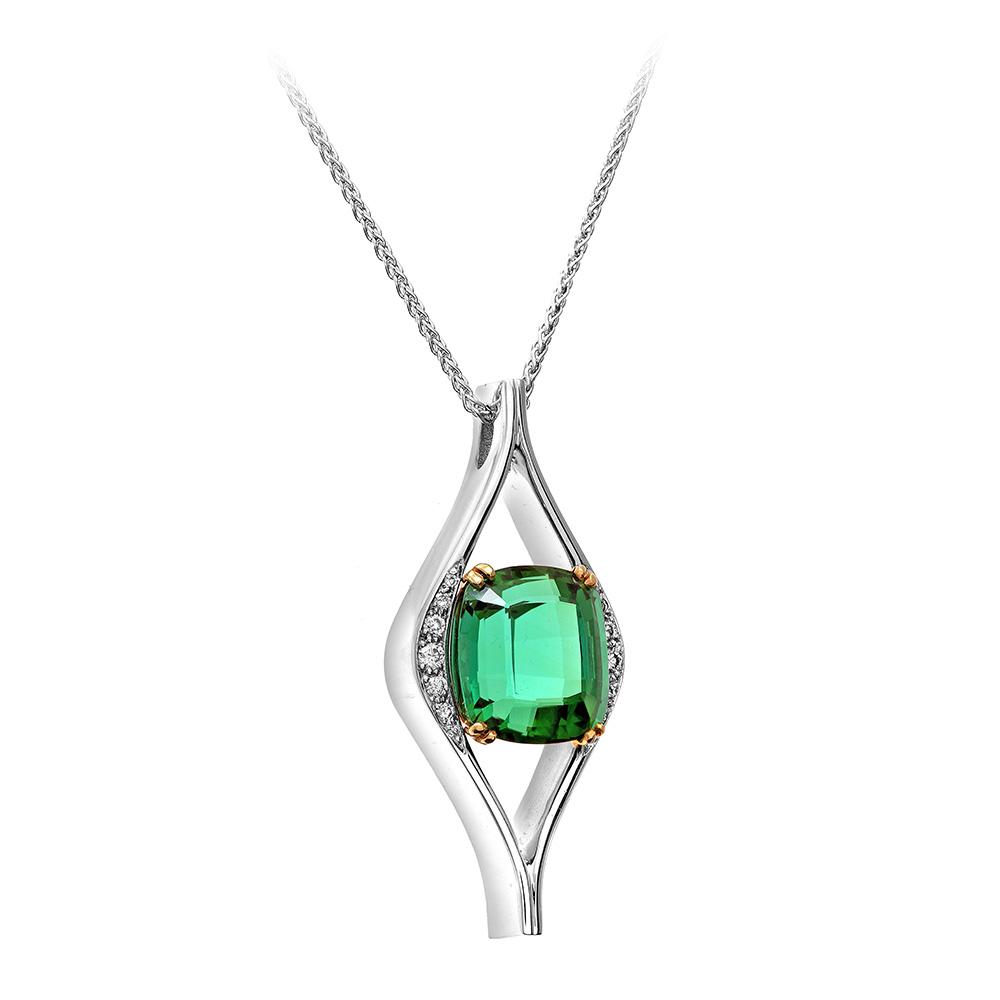 Lottie Lauder Emerald Pendant